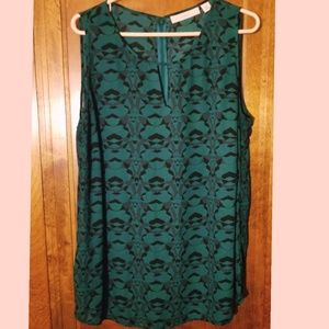 Sejour Green and Black Blouse size 14W